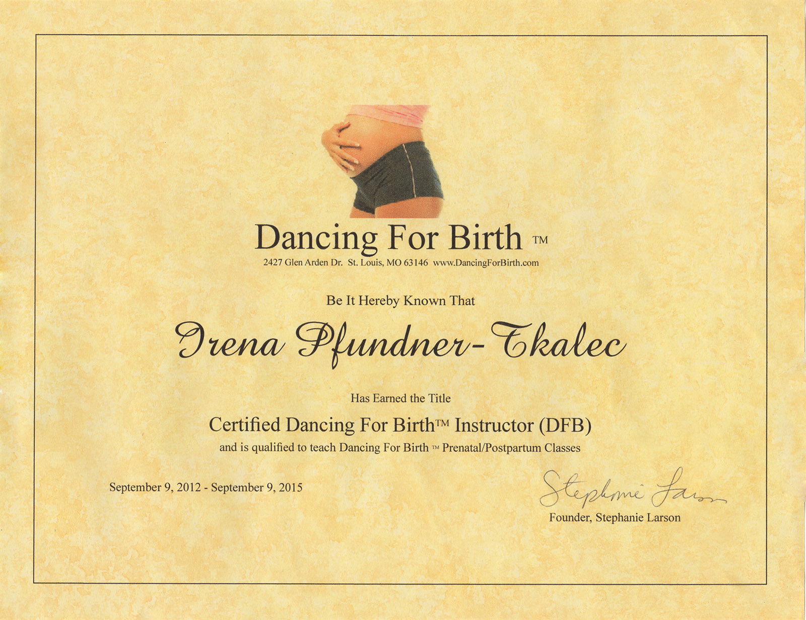 Dancing for birth