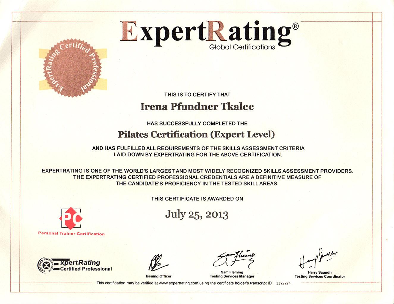 Pilates - expert level