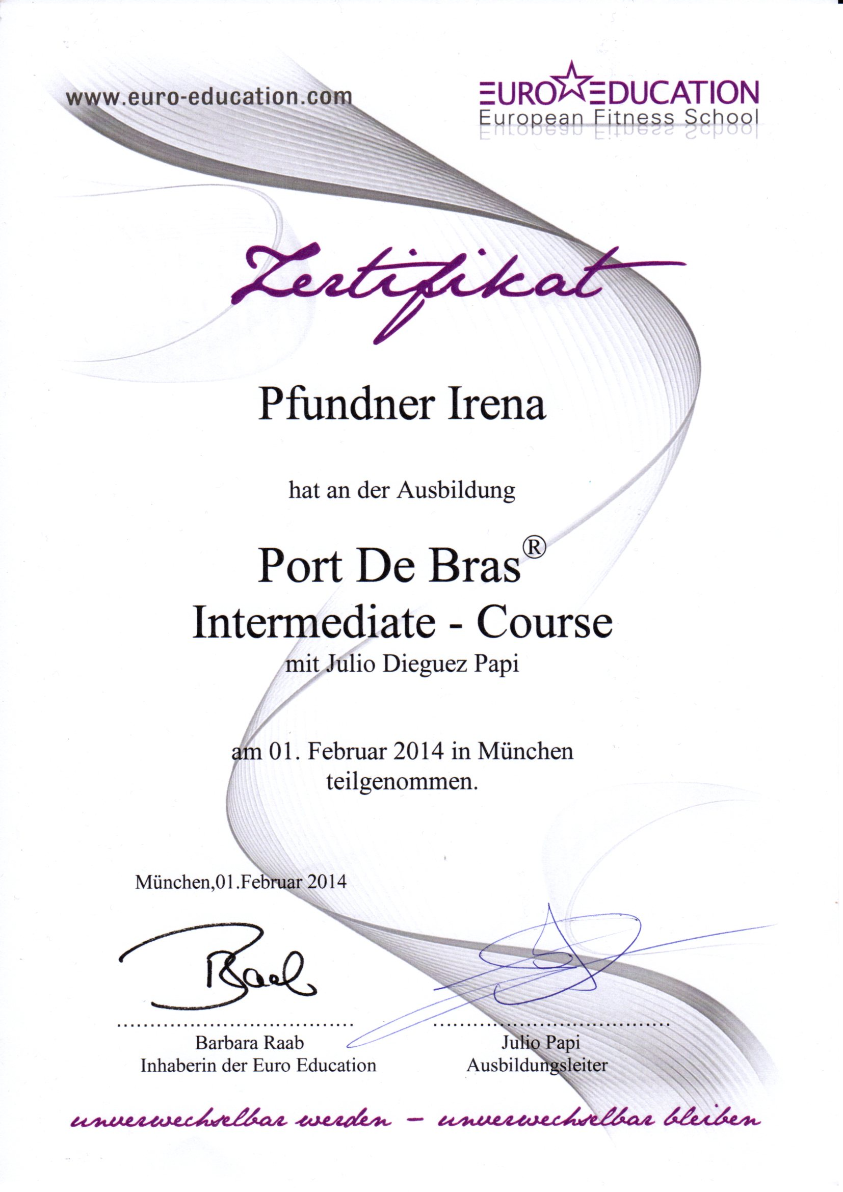 17. Port De Bras - Intermediate